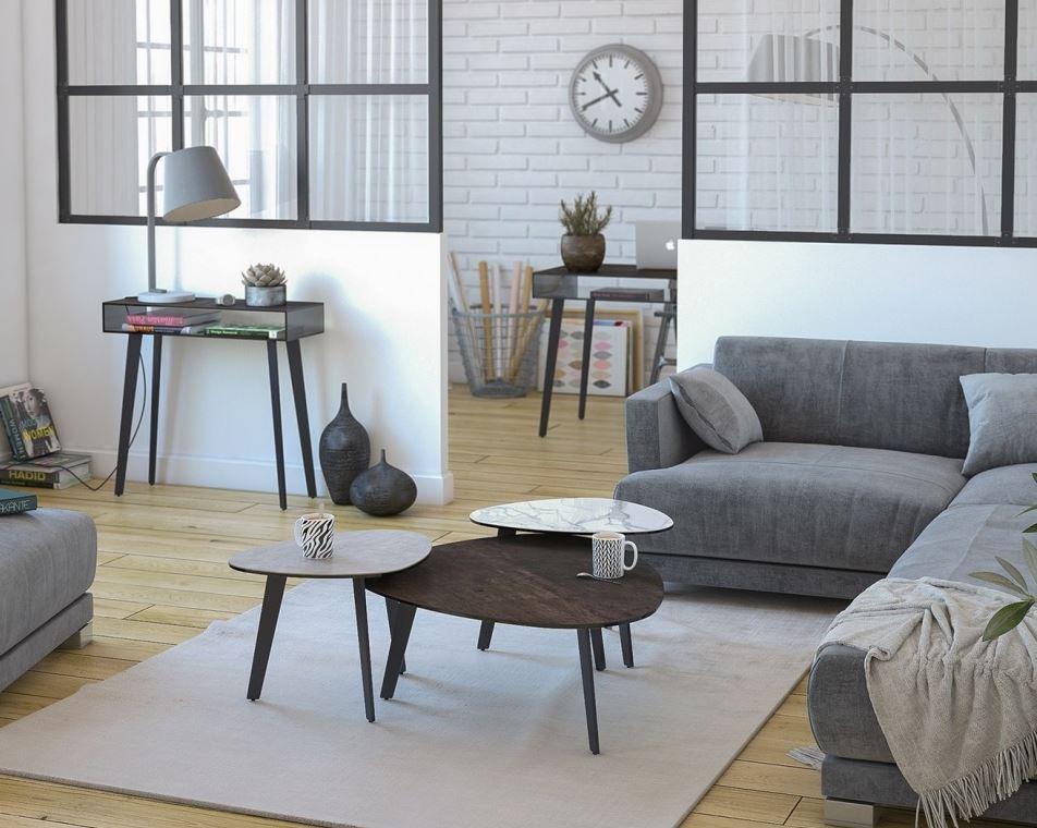 Table basse mod le galet akante meubles percheron - Modele table basse ...