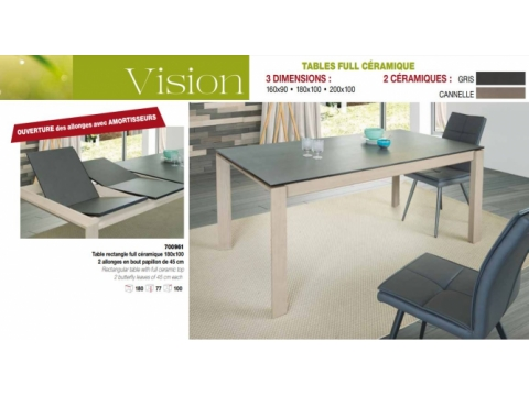 Table rectangulaire Vision